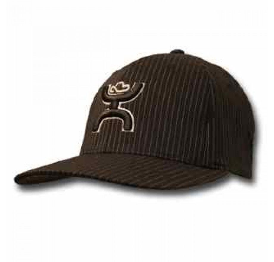 4f253e389d8bf Hooey Bugsy Pinstripe Flex Fit Structured Hat - Small Medium - 1401BPSV