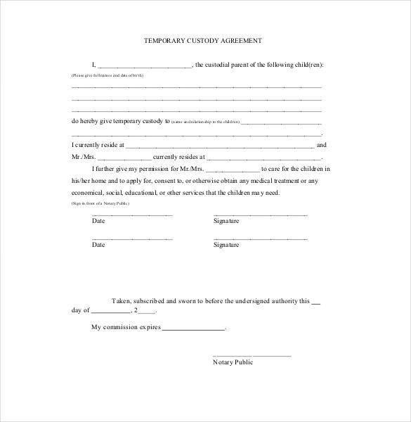Custody Agreement Template  HttpWwwValeryNovoselskyOrg