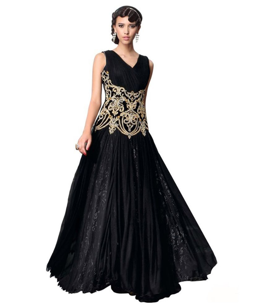 35f1690b0 Buy AV TRENDZ Black Net Gowns Online at Best Prices in India - Snapdeal