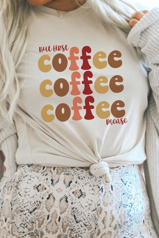 But First Coffee Sweatshirt, Coffee Sweatshirt for