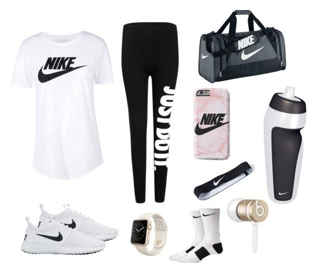 """Sporty outfit"" by clarissag040404 on Polyvore featuring NIKE and Beats by Dr. Dre"
