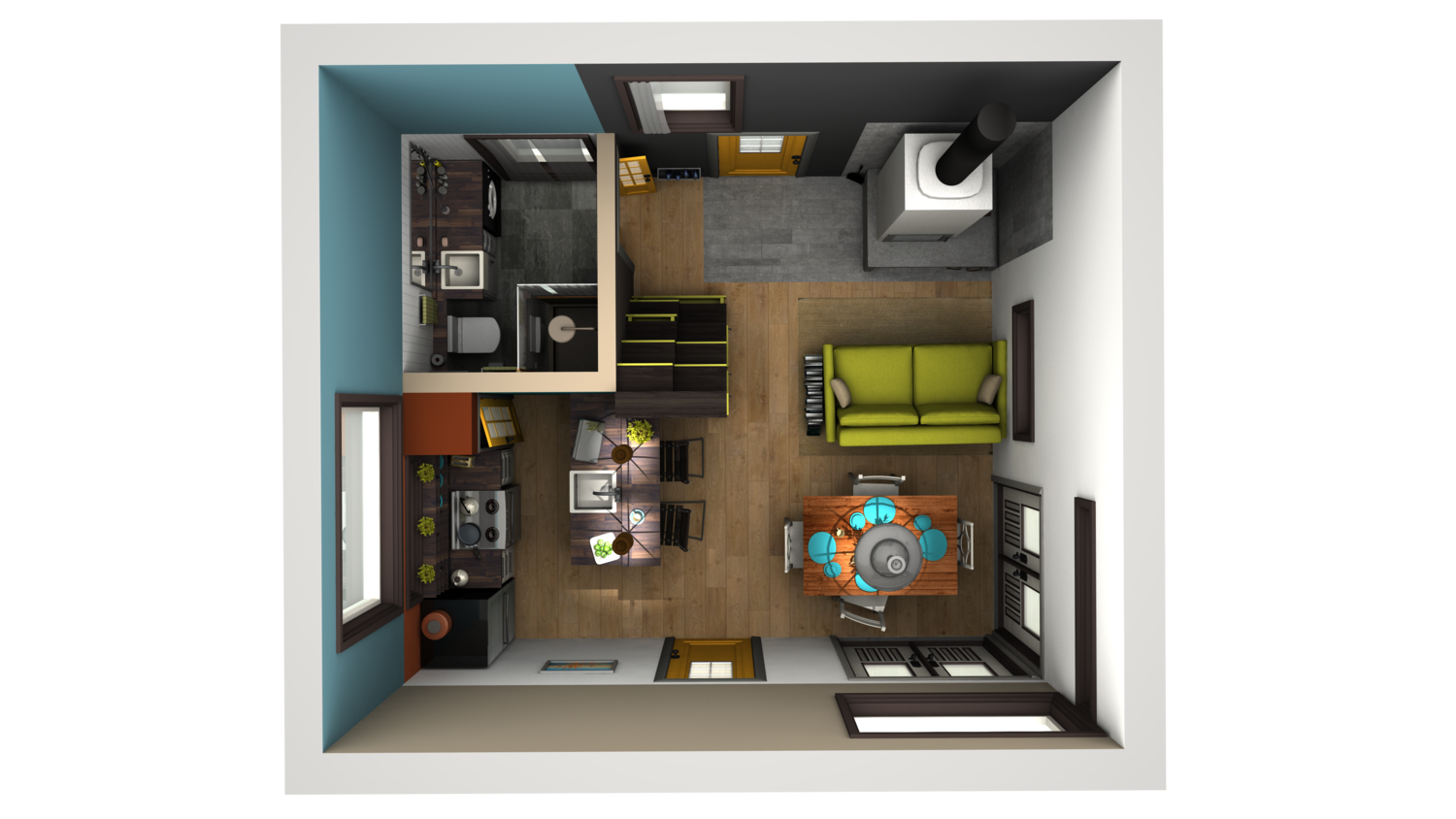 3d renders of a design i dreamt up yesterday small for Tiny house designers