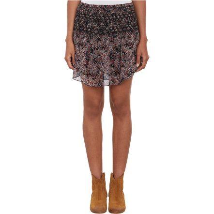 Ulla Johnson Floral Silk Smocked Eva Mini-Skirt at Barneys.com