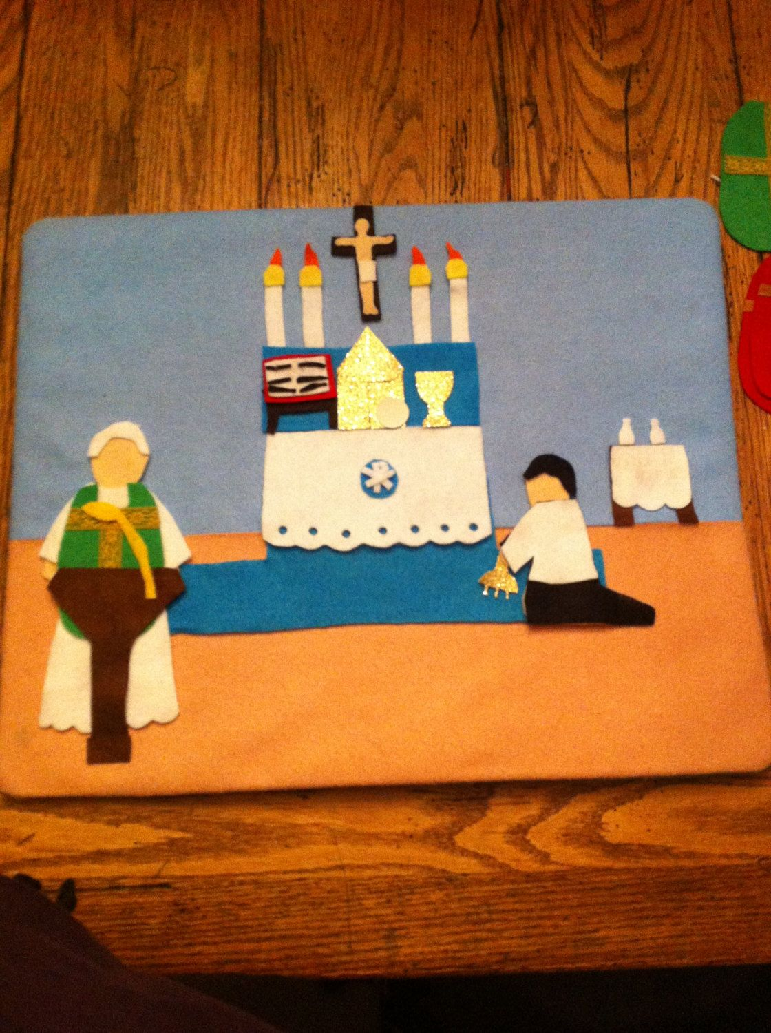 Sale Play Felt Pieces Themed For The Catholic Mass By