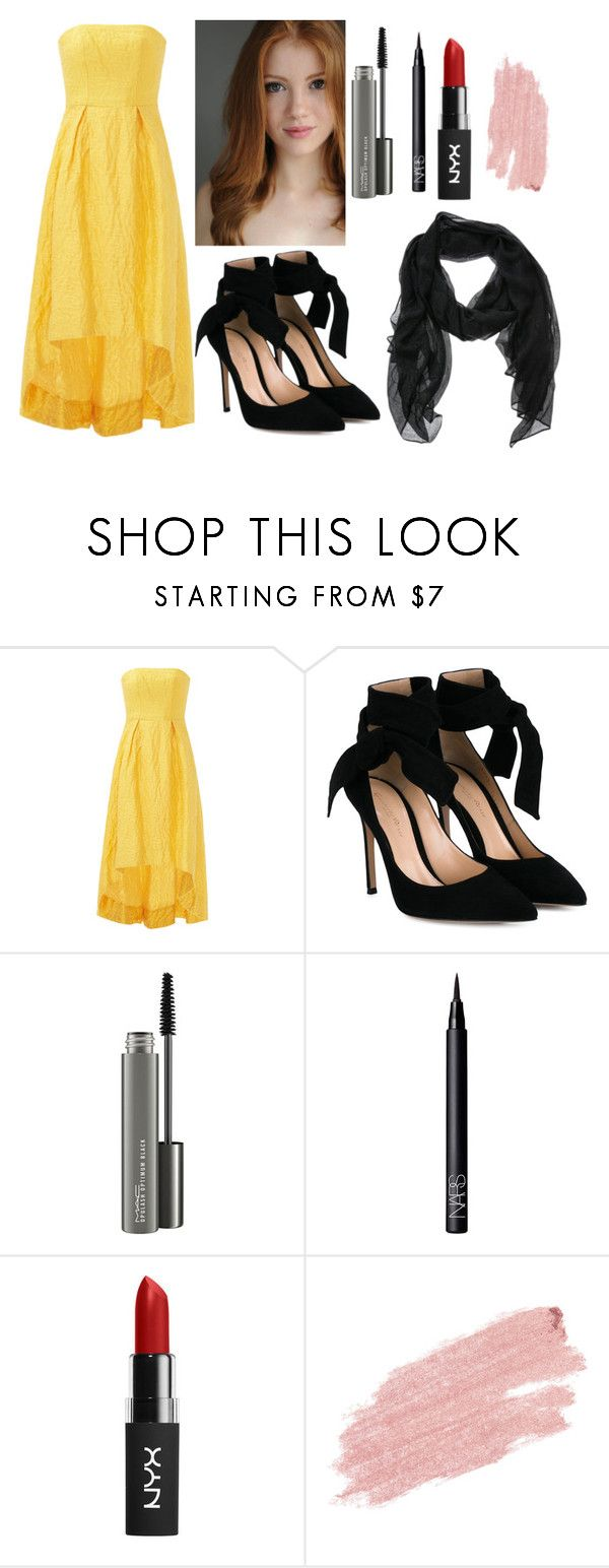 """""""Summer prom (slightly late)"""" by frezzijr ❤ liked on Polyvore featuring ML Monique Lhuillier, Gianvito Rossi, MAC Cosmetics, NARS Cosmetics and Jane Iredale"""