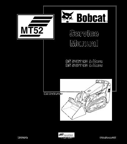 Bobcat mt52 mini track loader service repair manual
