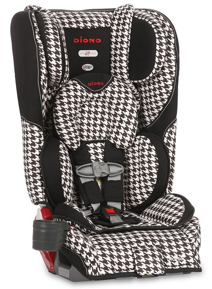 Diono Rainier Convertible Booster Car Seat White Houndstooth For Joanna S