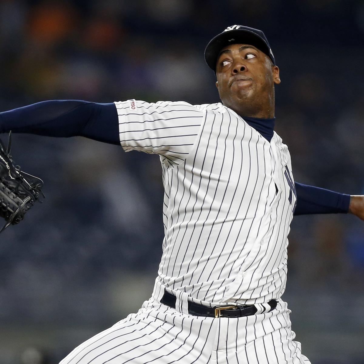 Yankees Aroldis Chapman Brewers Josh Hader Named 2019 Relievers Of The Year Aroldis Chapman Yankees Brewers