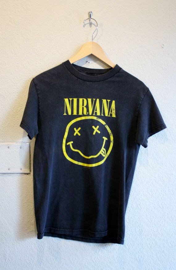 c0c74fea79 Vintage 1992 Nirvana T Shirt ive always wanted one but mom and dad said no  hahaha now im a grown up ha