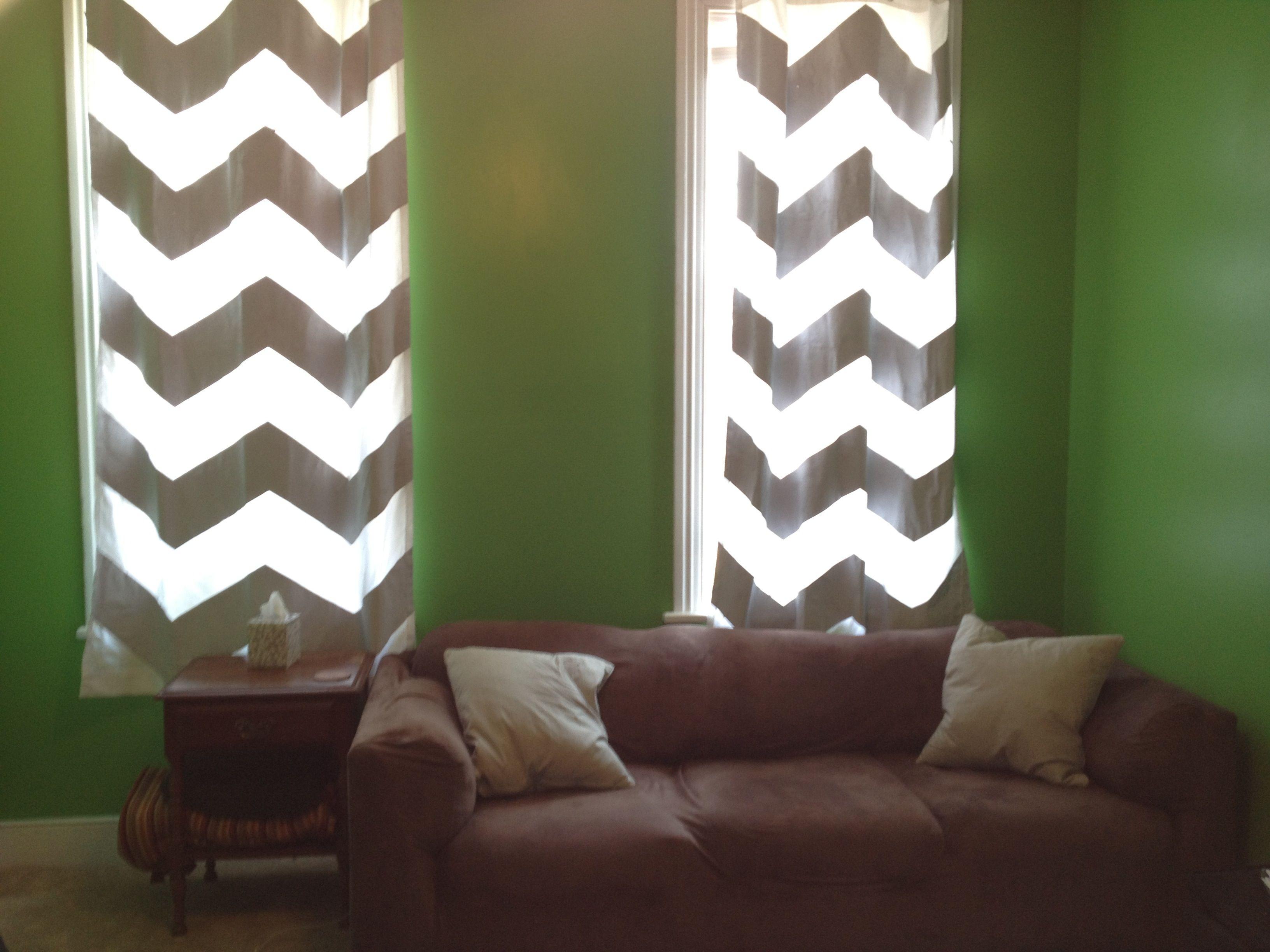 DIY chevron curtains | Painted curtains, Home decor ...