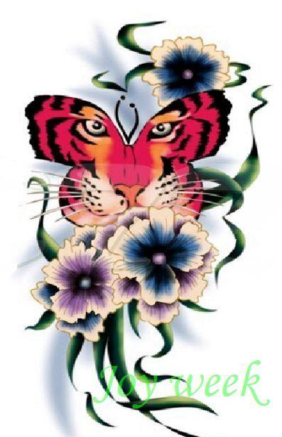Online kopen Wholesale vlinder tijger tattoo uit China vlinder ...