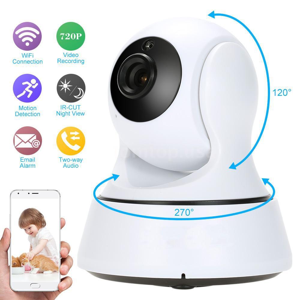 woshijia 720p pan tilt security ip camera wifi home security cctv