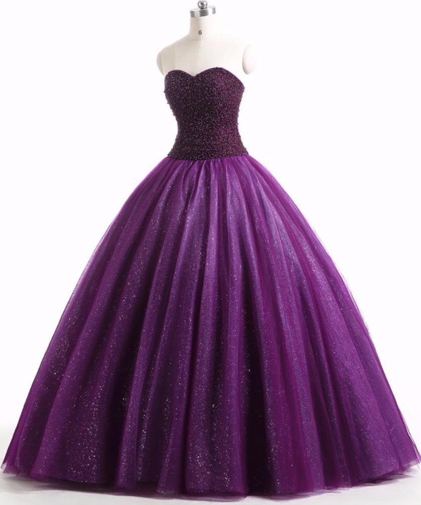 Purple Prom Dress Ball Gown ` Purple Prom Dress in 11  Lila