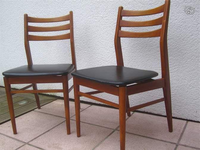 2 Chaises style scandinave vintage Ameublement Seine