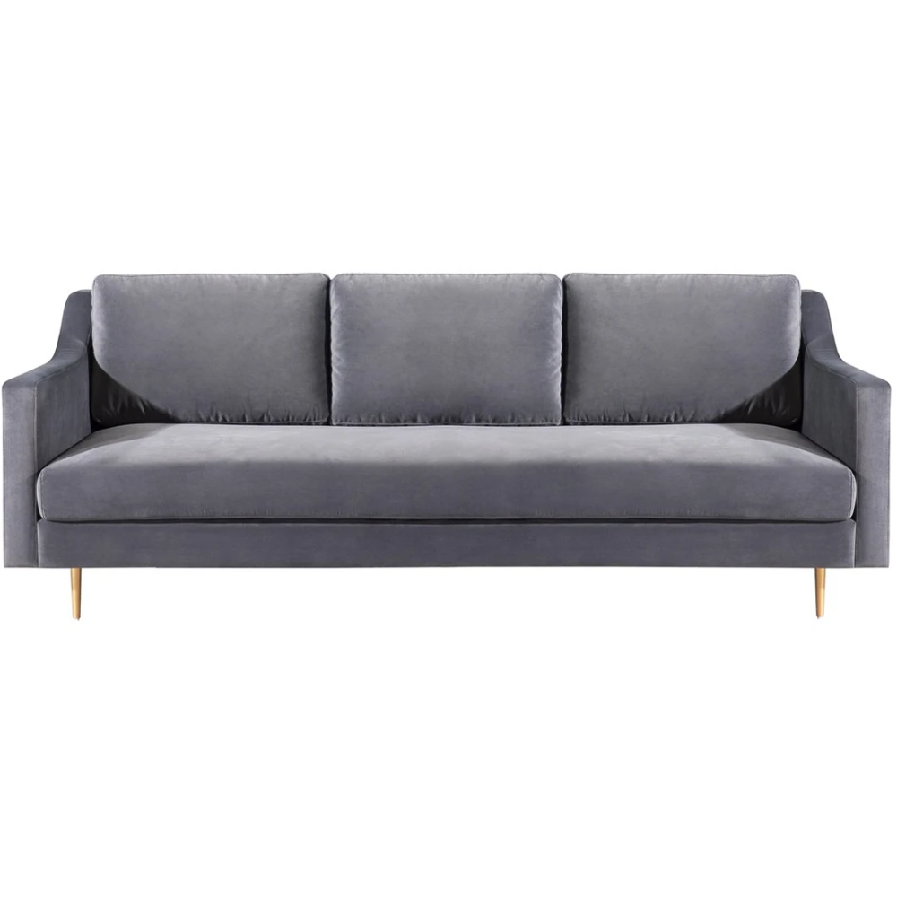 Tov Furniture Modern Milan Grey Velvet Sofa Tov L4111 In 2020 Upholstered Sofa Contemporary Couches Contemporary Sofa