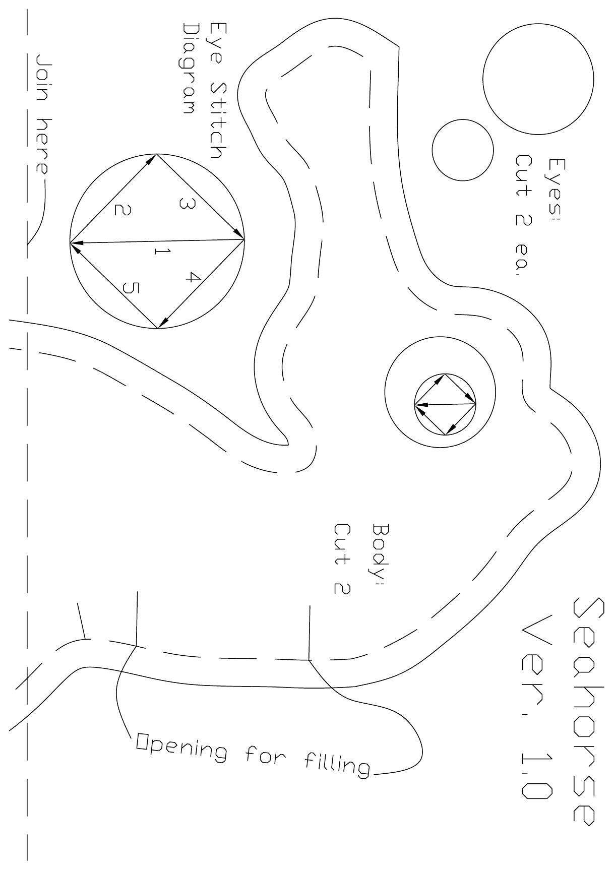 Seahorse Pattern Version 1.pdf - Google Drive | Nähvorhaben ...