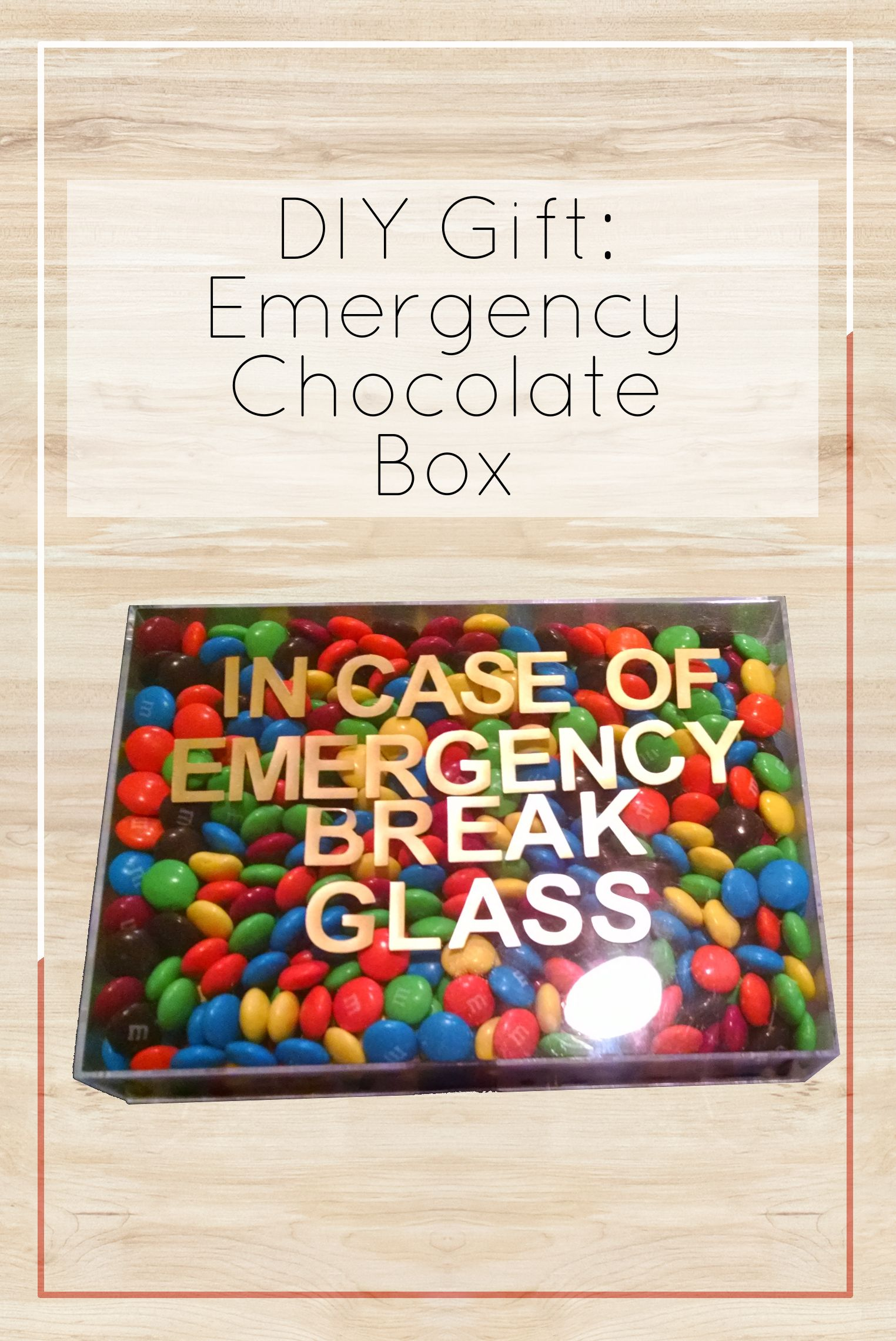 DIY Gift Idea: Emergency Chocolate