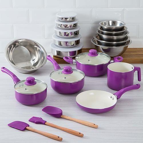 08360518d Conjunto Panela de Revestimento Cerâmico - Shoptime.com | Home sweet ...