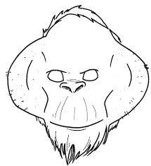 how to make an orangutan mask