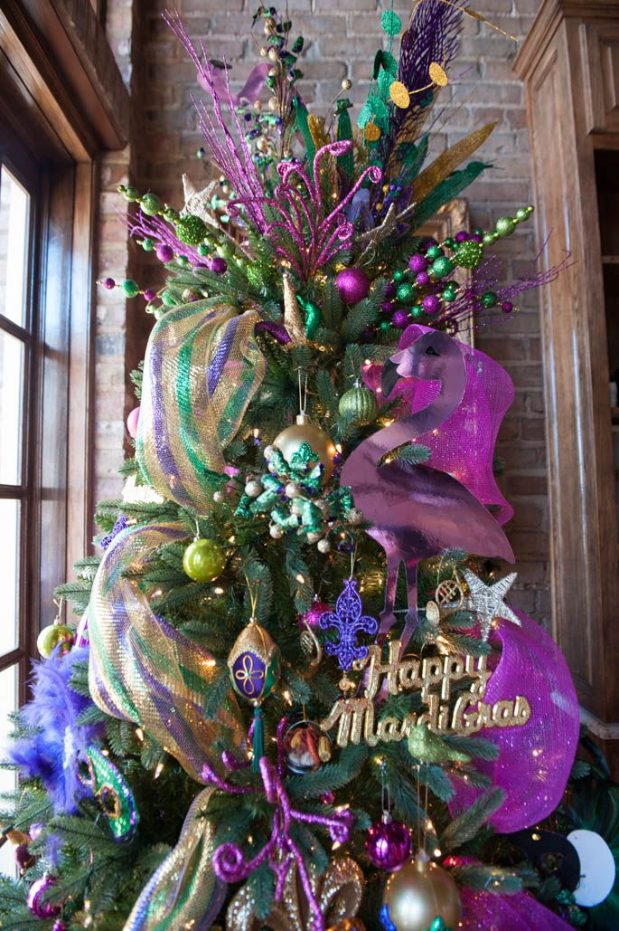 Turn your Christmas tree into a Mardi Gras tree! - Turn Your Christmas Tree Into A Mardi Gras Tree! Louisiana Love