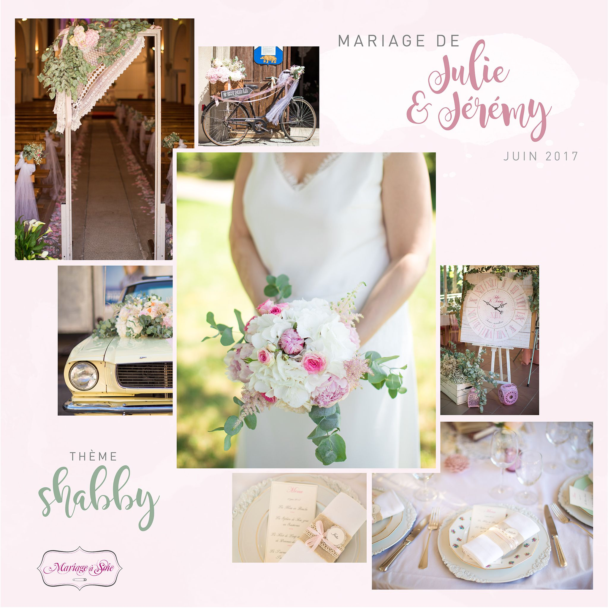 Mariage   Soie Décoration & organisation mariage ambiance shabby