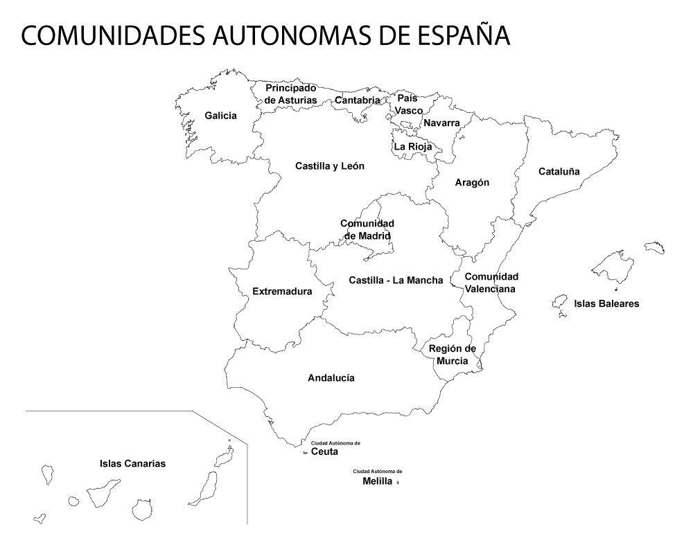 Mapa De Espana Pdf.Mapa De Comunidades Y Provincias De Espana Para Colorear Pdf Comunidades Autonomas De Espana Mapa De Espana Mapas