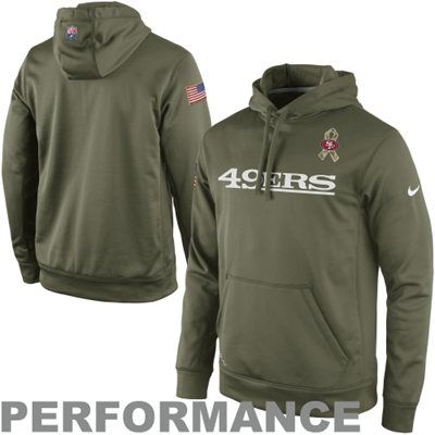 Nike San Francisco 49ers Salute to Service KO Pullover Performance Hoodie -  Olive  SalutetoService c5a01f21a