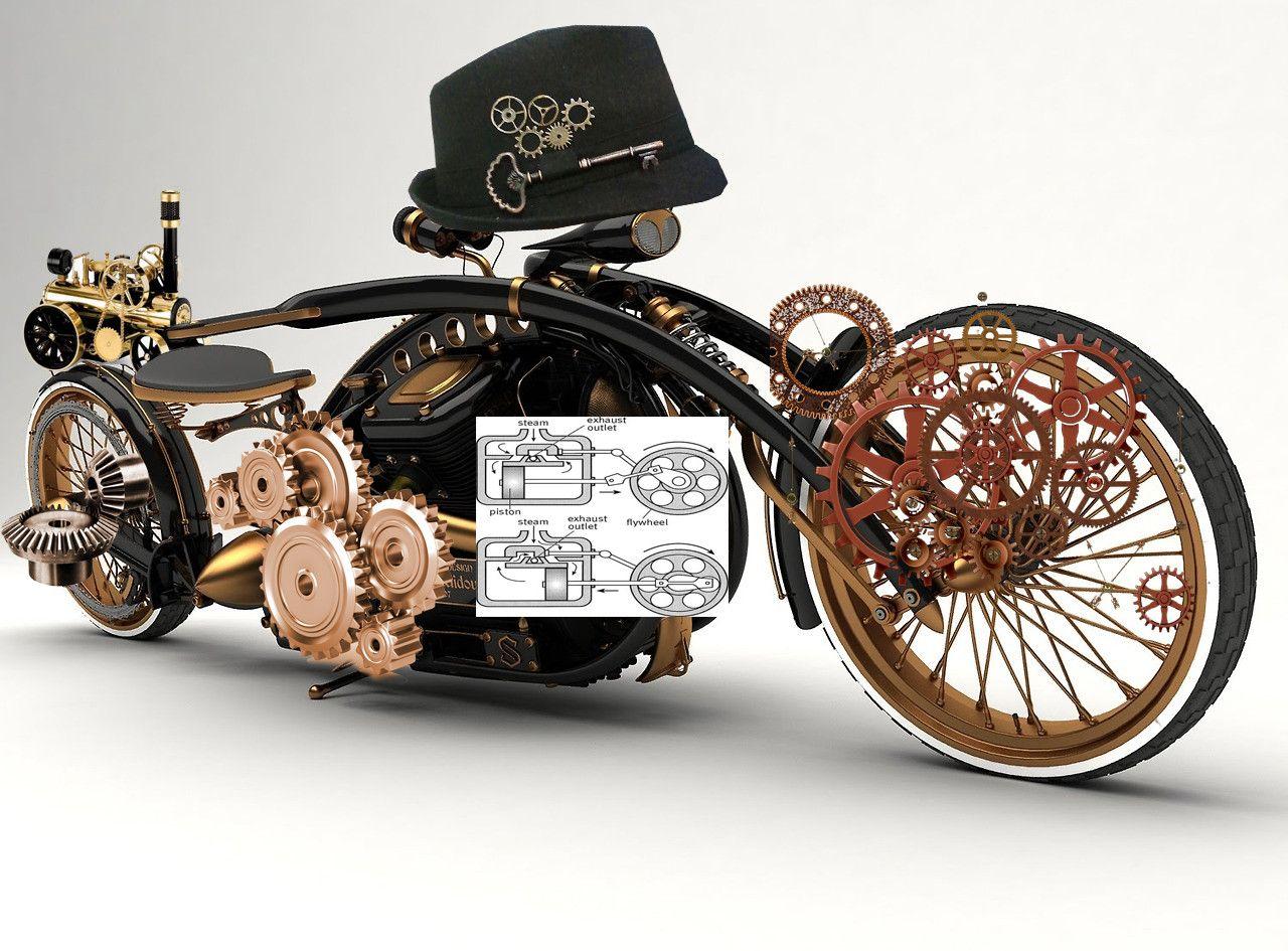 мотоциклы в стиле стимпанк картинки калифорнийских маков стихи