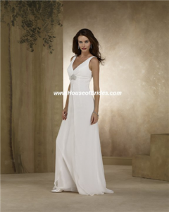 Informal Third Wedding Dresses Second Marriage Wedding Gowns On