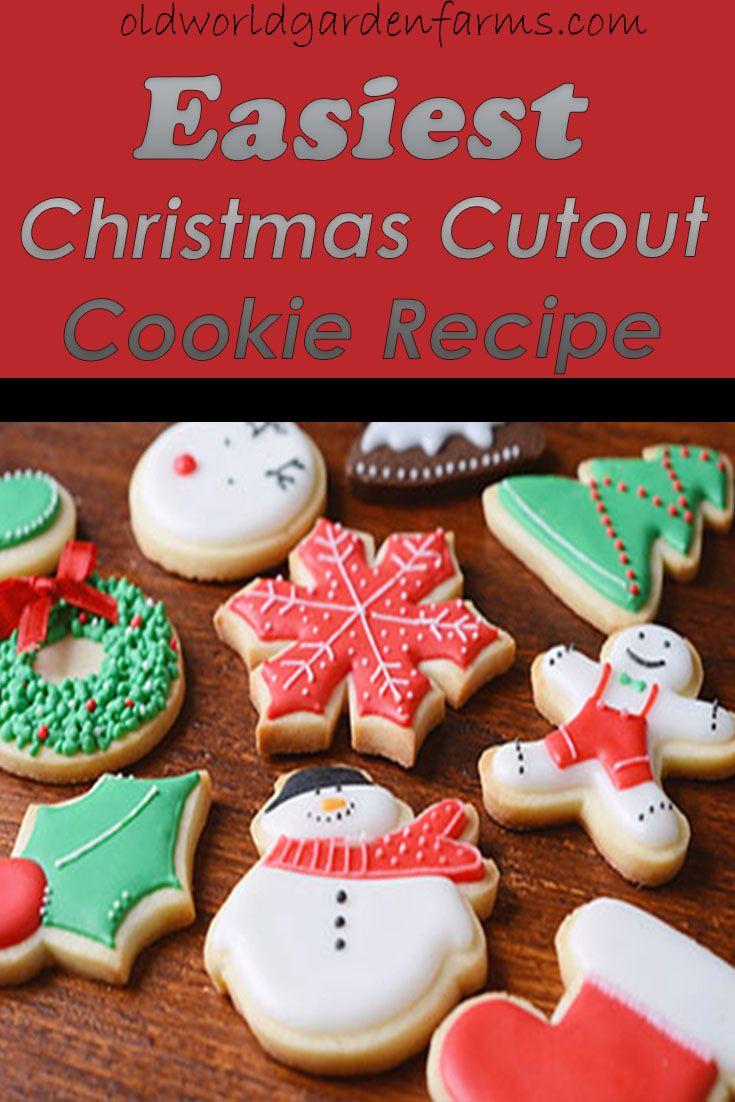 Easiest Christmas Cutout Cookie