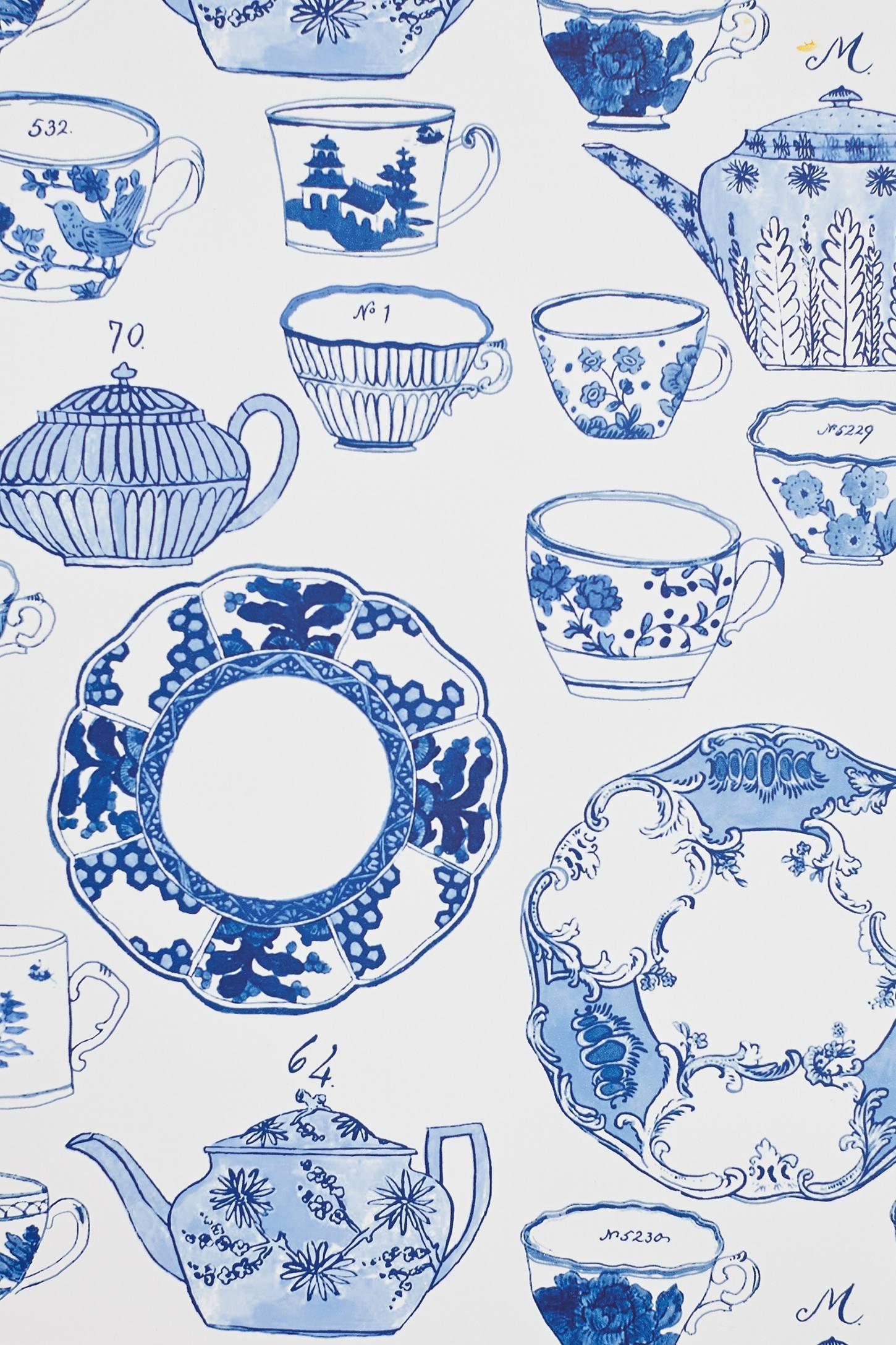 Delft Dinnerware Wallpaper - anthropologie.com  sc 1 st  Pinterest & Delft Dinnerware Wallpaper - anthropologie.com | Home | Pinterest ...