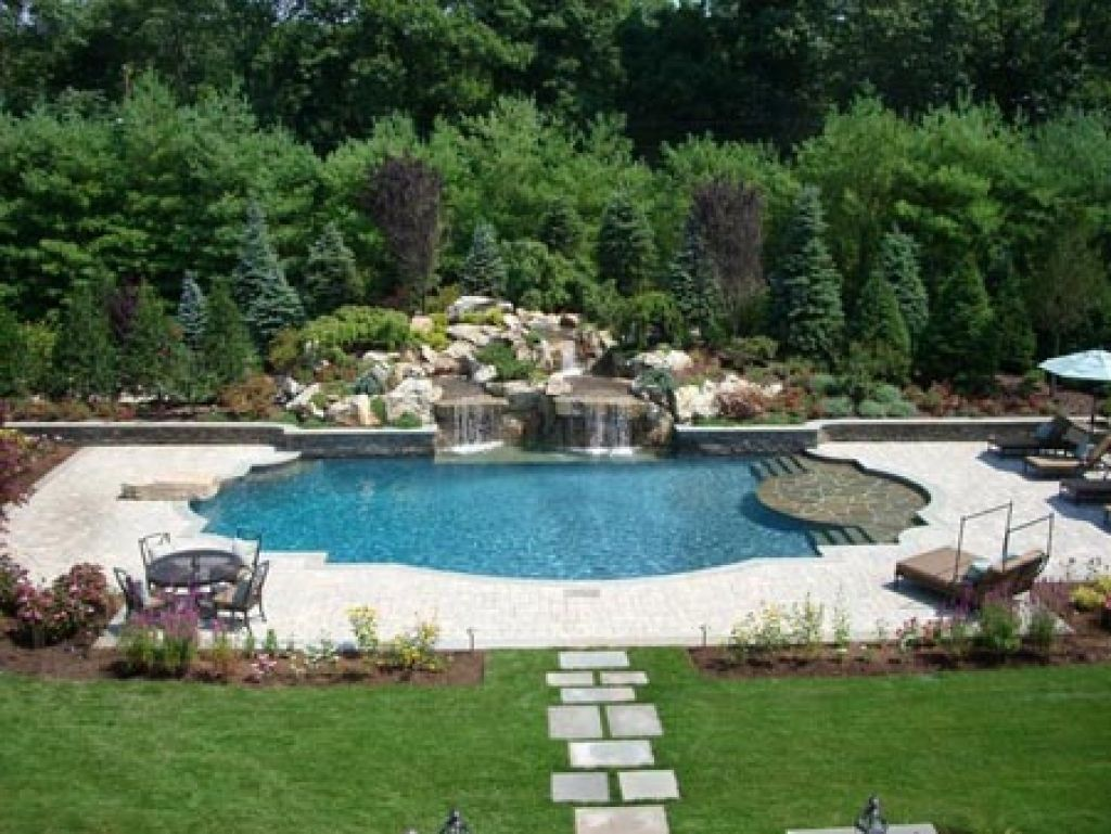 Image result for inground pool landscaping ideas