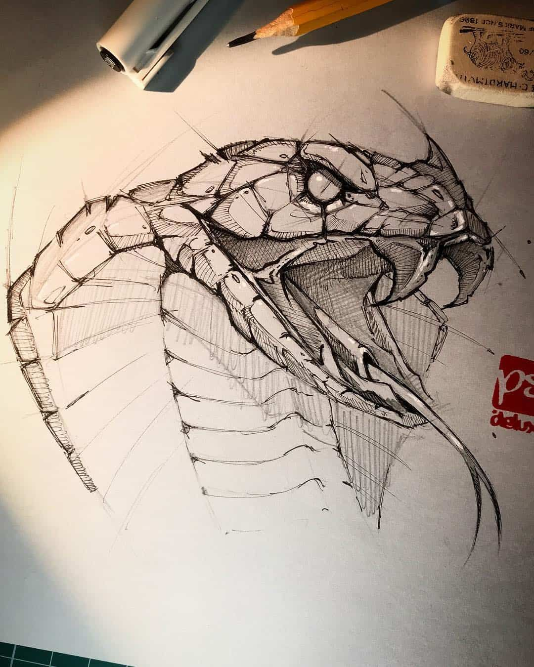 Photo of Pencil Sketch Artist Psdelux   Animal drawings   ARTWOONZ