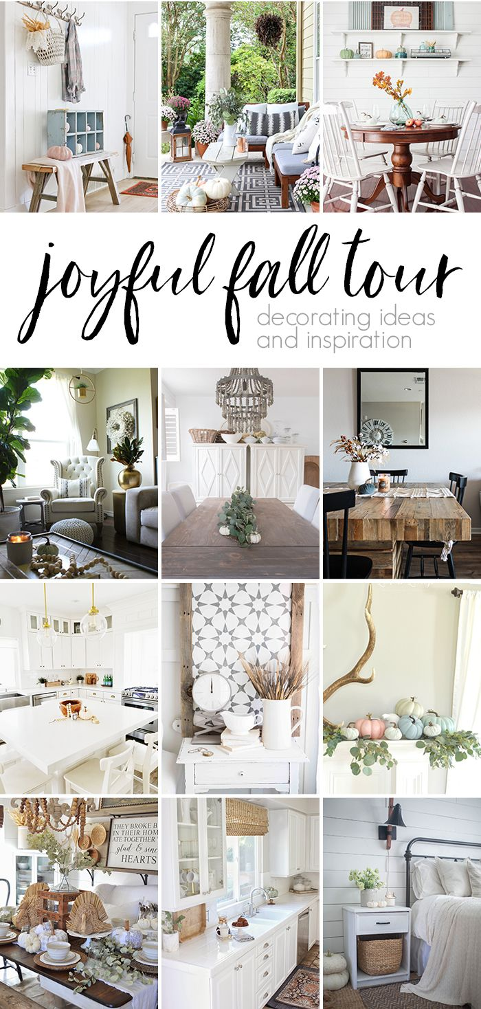 Neutral Fall Porch Decorating Ideas and Tour | Cozy, Funky junk and ...