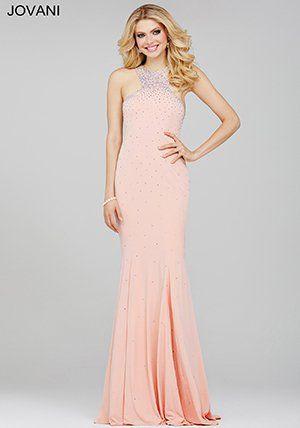 Jovani Blush Pink Jersey Prom Dress 35097   PROM 2k16   Pinterest ...
