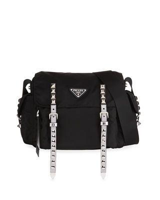d17c6c1269b8 Prada Black Nylon Messenger Bag   Mens Leather Messenger Bags ...