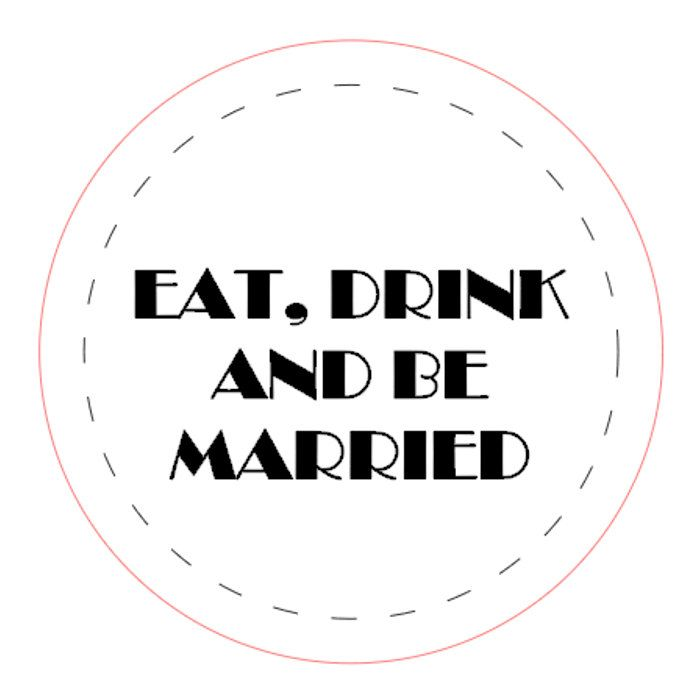 48 x personalised wedding stickers labels by TagzandBagz on Etsy