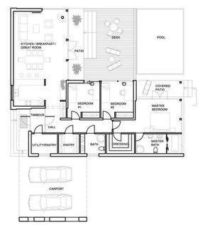 Plano de casa minimalista con piscina casa pinterest for Casa minimalista con alberca