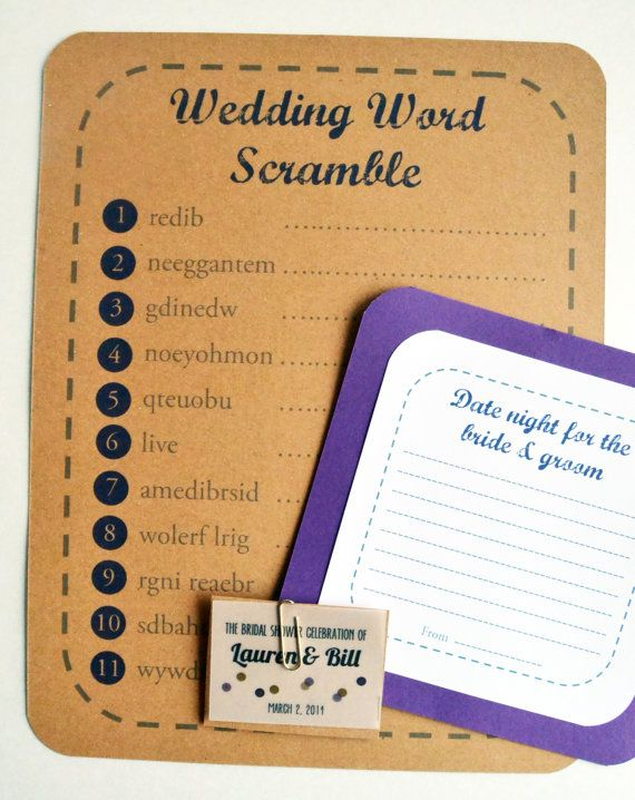 bridal shower games bridal shower game packet by purplemache 200