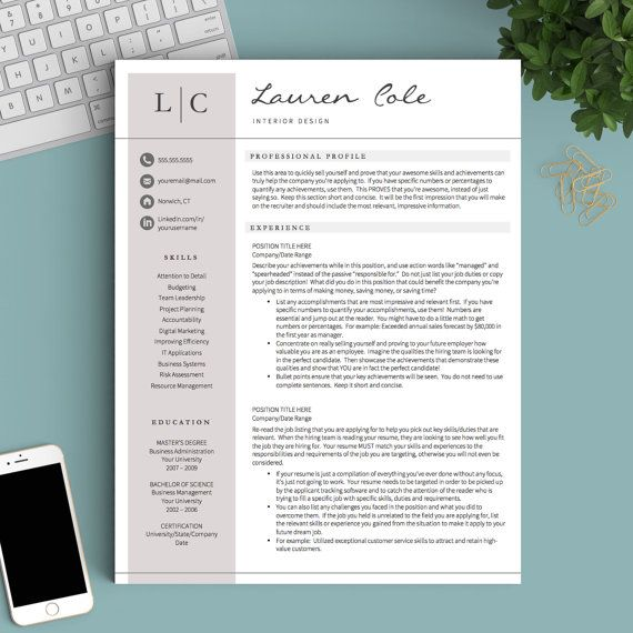 creative resume template for word pages 1 2 and 3 page resume template