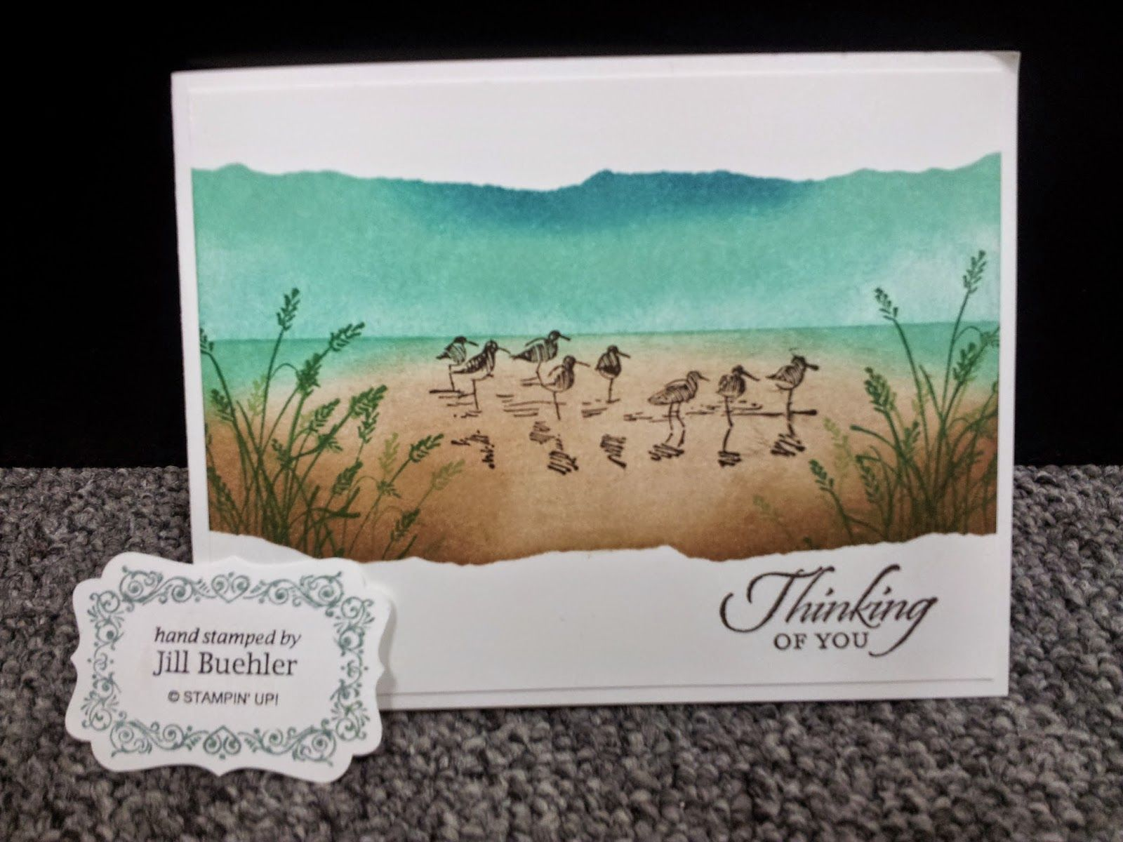 Creating with Jill: Wetlands Masking Technique Stampin Up DIY
