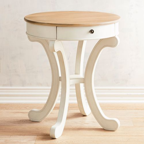 Marchella End Table In Antique White End Tables Diy End Tables
