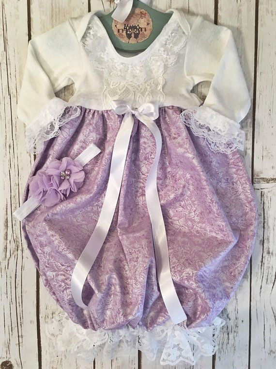 e3c438ce6 Purple Take Me Home Outfit, Baby Coming Home Gown, Hospital Baby Girl Outfit,  Layette Girl Infant, N
