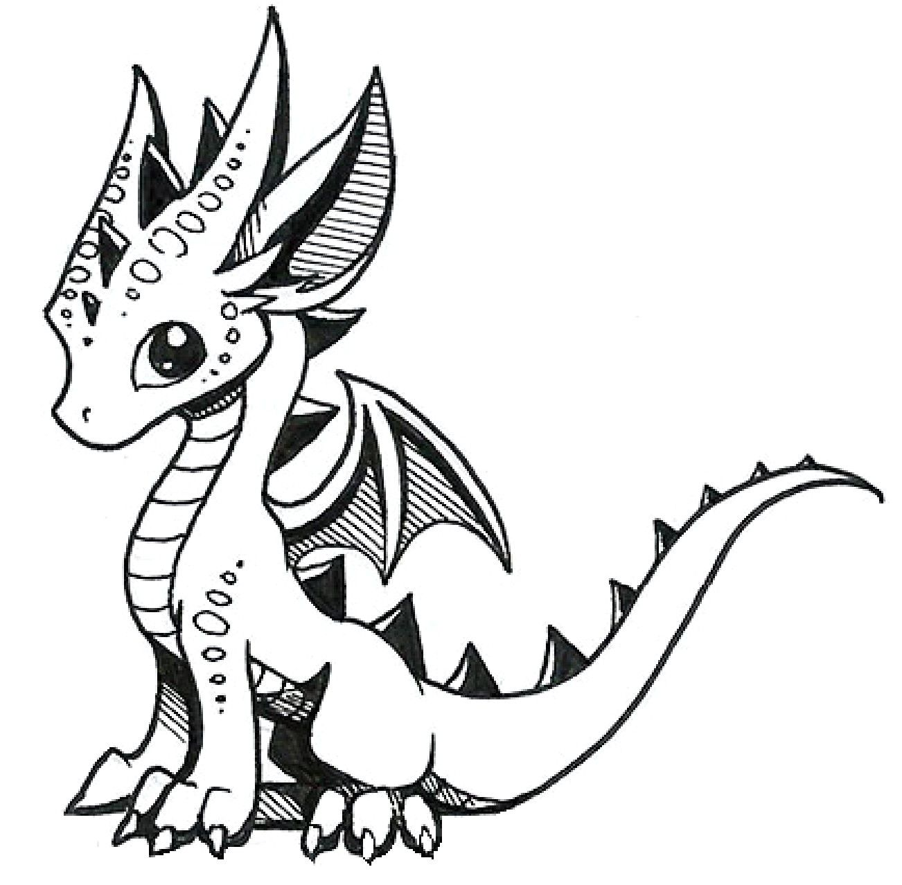 How To Draw Cute Dragons Dragon Artwork Cute Dragon Drawing Baby Dragons Drawing