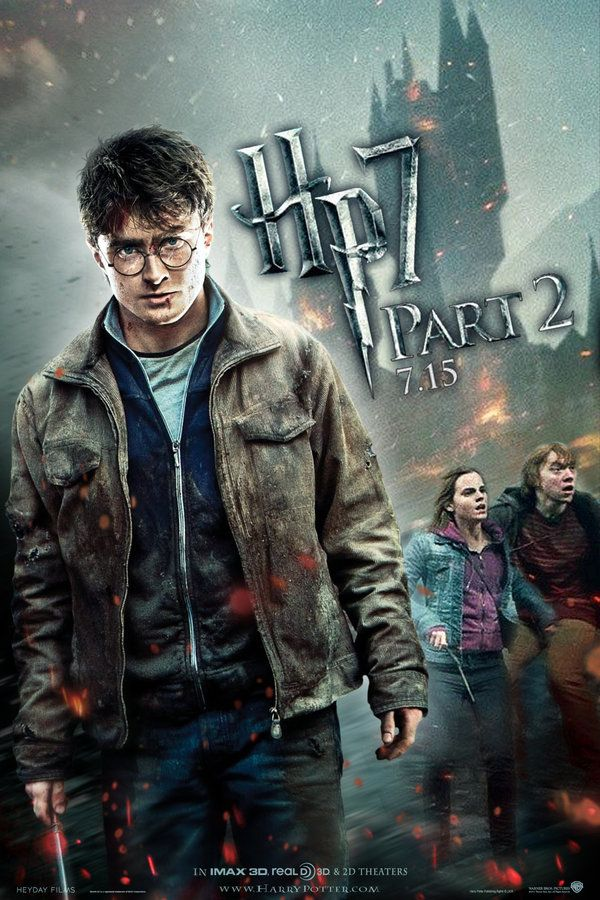 Hp7 Part 2 Trio Poster By Andrewss7 Harry Potter Poster Deathly Hallows Part 2 Harry Potter