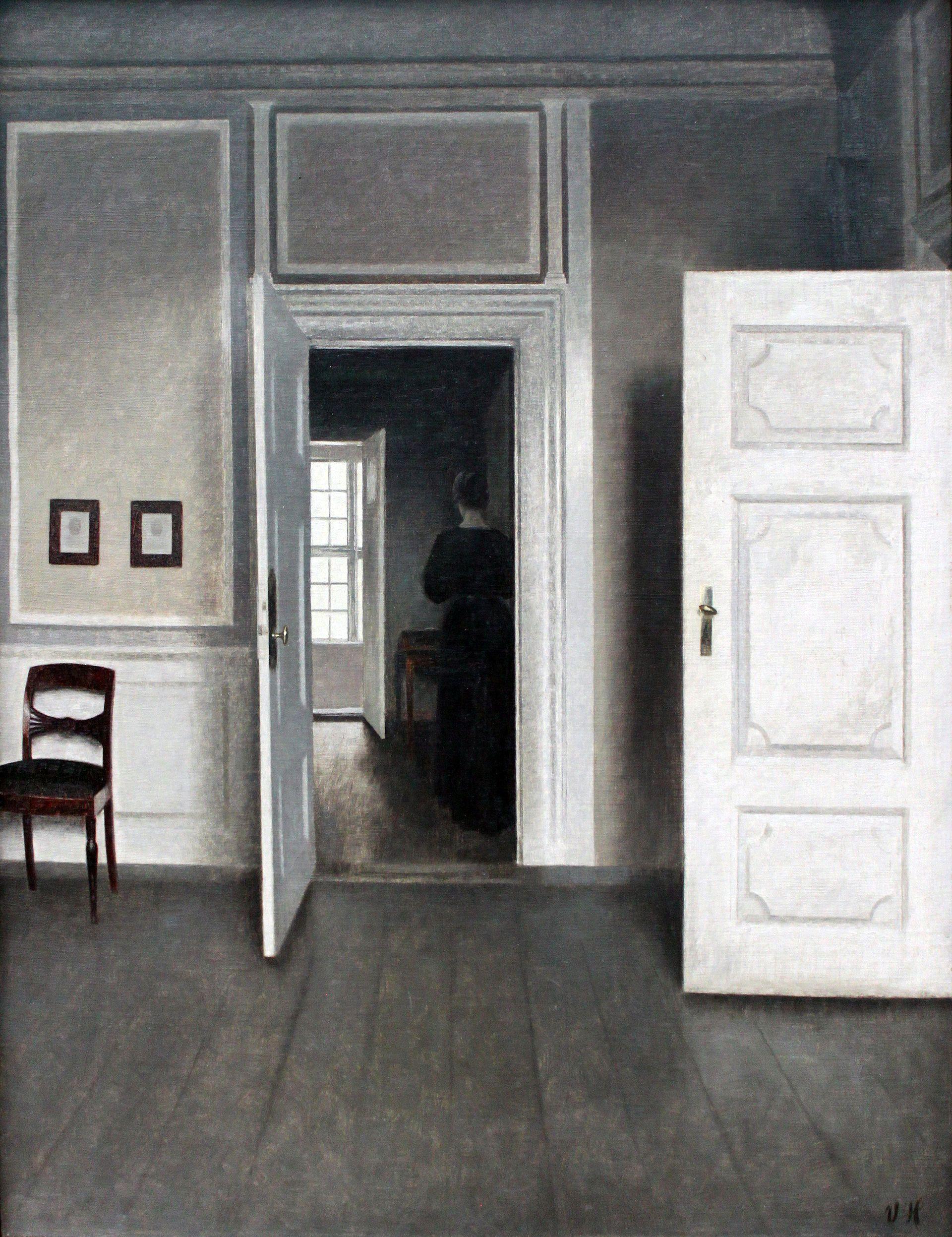 Interieur kunst  1901 Hammershøi Interieur Strandgade 30 anagoria.JPG - Vilhelm ...