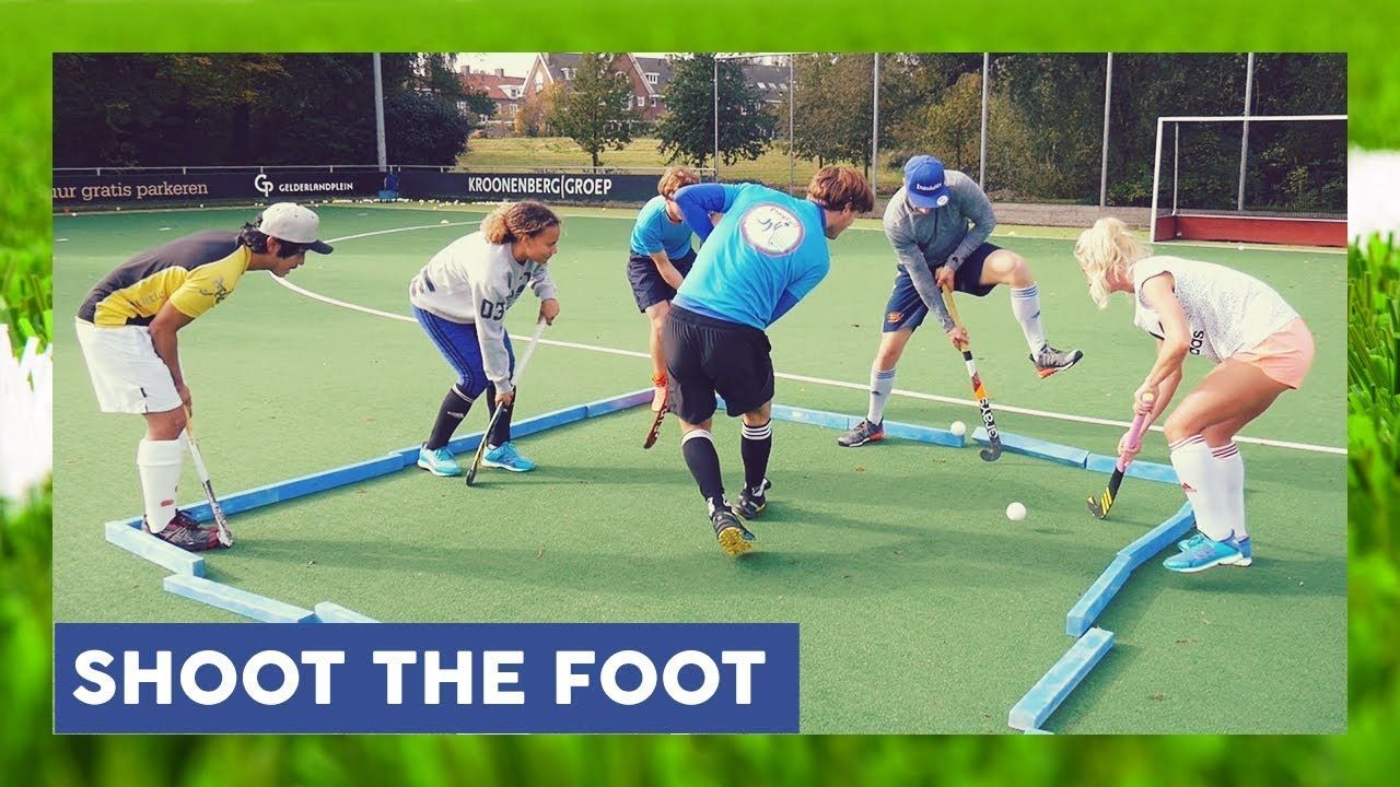 Shoot The Foot Field Hockey Game Hockeyheroestv Field Hockey Games Field Hockey Hockey Games