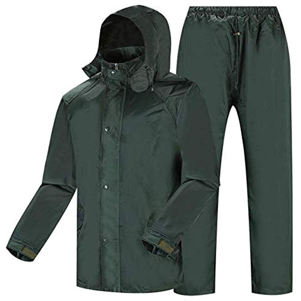 Männer Mit Kapuze Regen Mantel Wasserdicht Winddicht Jacke Im Freien Fahrrad