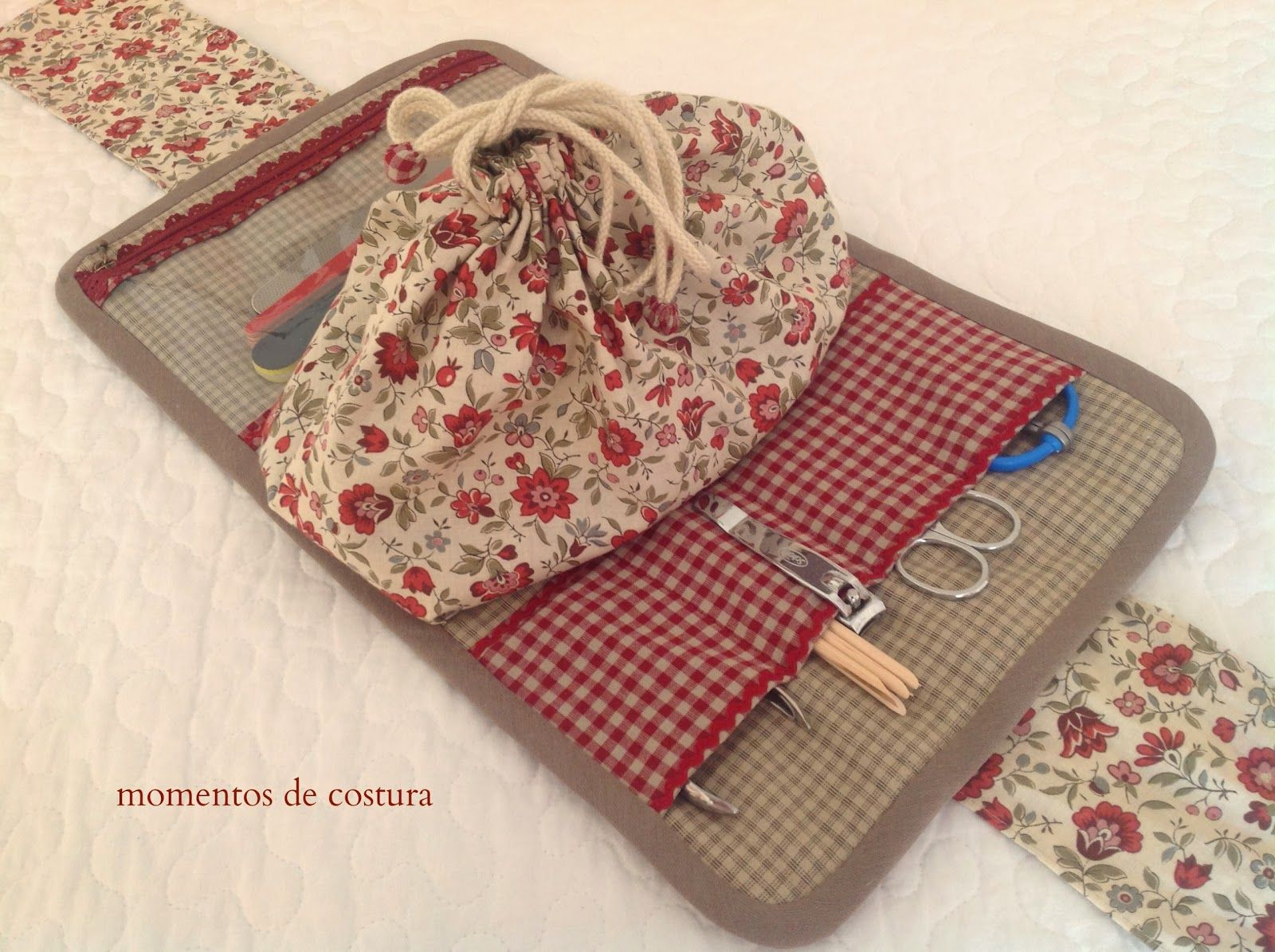 Momentos de costura estuche de manicura teresa restegui - Bolsas de tela manualidades ...