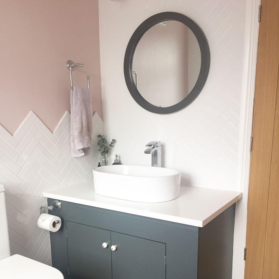 Best Herringbone Tiles In Our New Bathroom Renovation Decorated 400 x 300